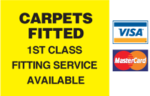Carpets Fitted - 1st class fitting service available